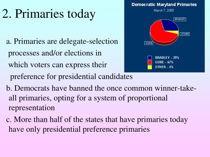 2. Primaries today
