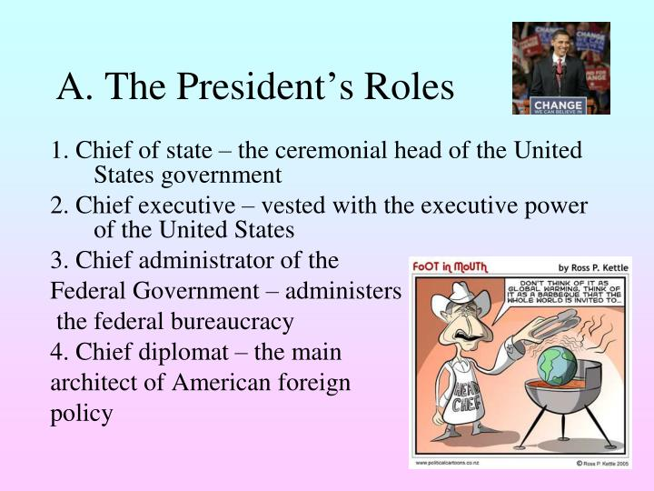 A the president s roles
