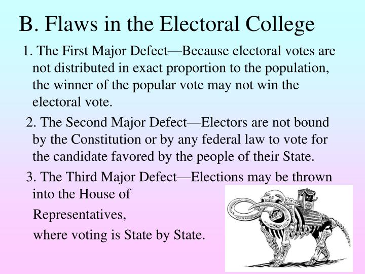 B. Flaws in the Electoral College