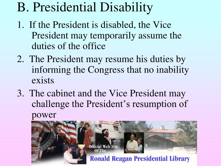 B. Presidential Disability