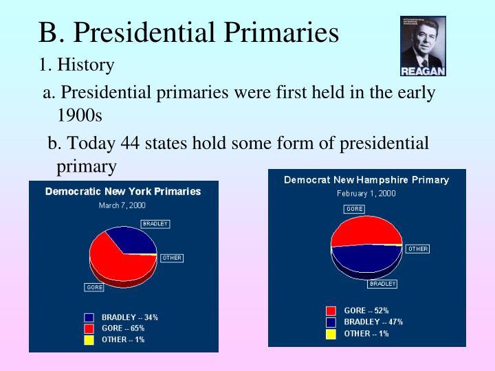 B. Presidential Primaries