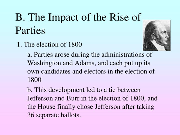 B. The Impact of the Rise of Parties