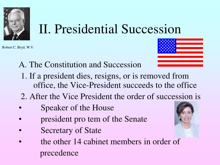 II. Presidential Succession