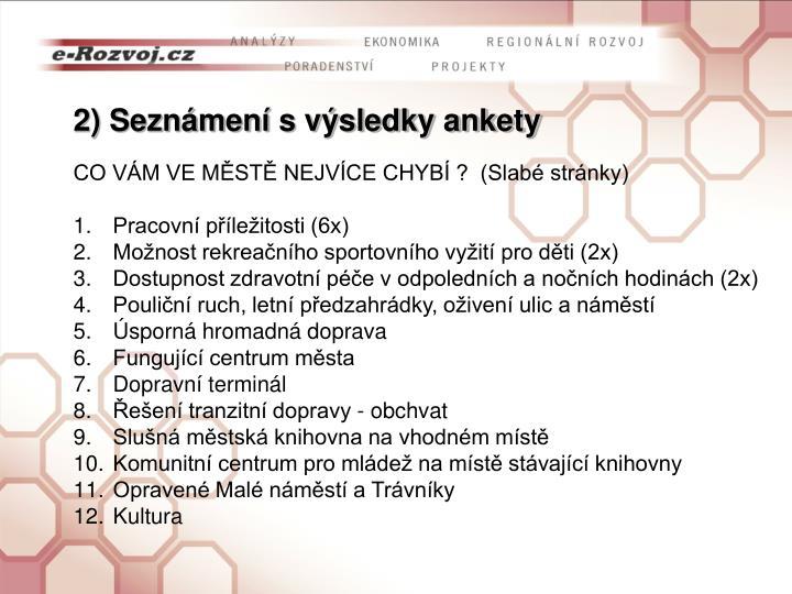 Seznámení spracovní verzí analytické části Programu rozvoje města Železný Brod