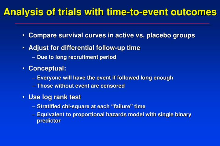 Analysis of trials with time-to-event outcomes