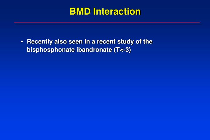 BMD Interaction