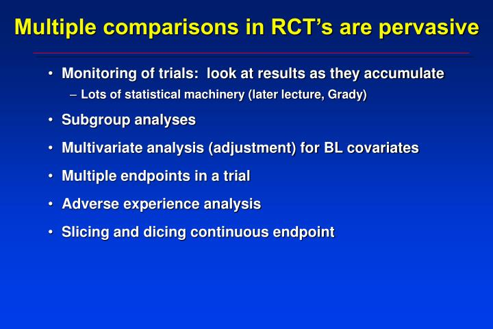 Multiple comparisons in RCT's are pervasive