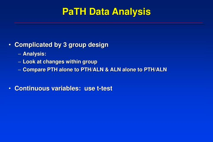 PaTH Data Analysis