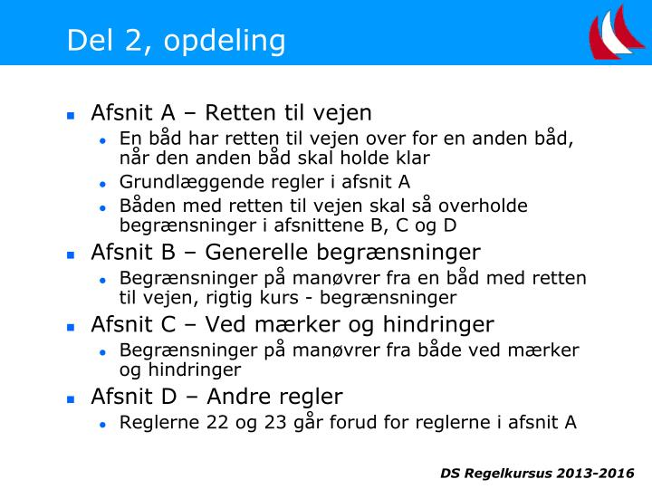Del 2, opdeling