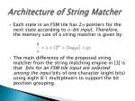 architecture of string matcher