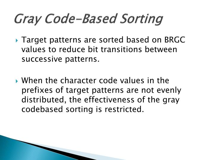 Gray Code-Based Sorting
