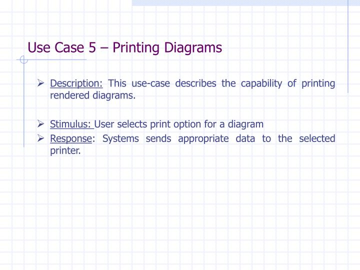 Use Case 5 – Printing Diagrams