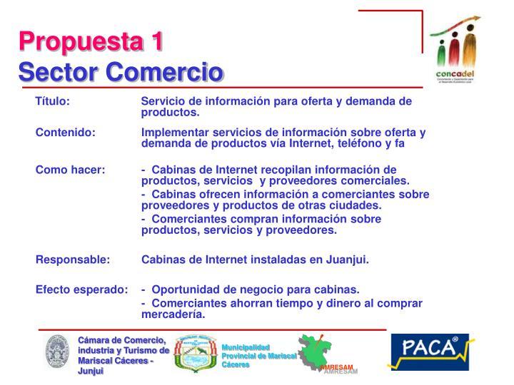 Título: Servicio de información para oferta y demanda de productos.