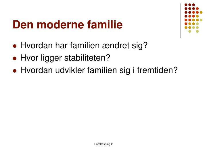 Den moderne familie
