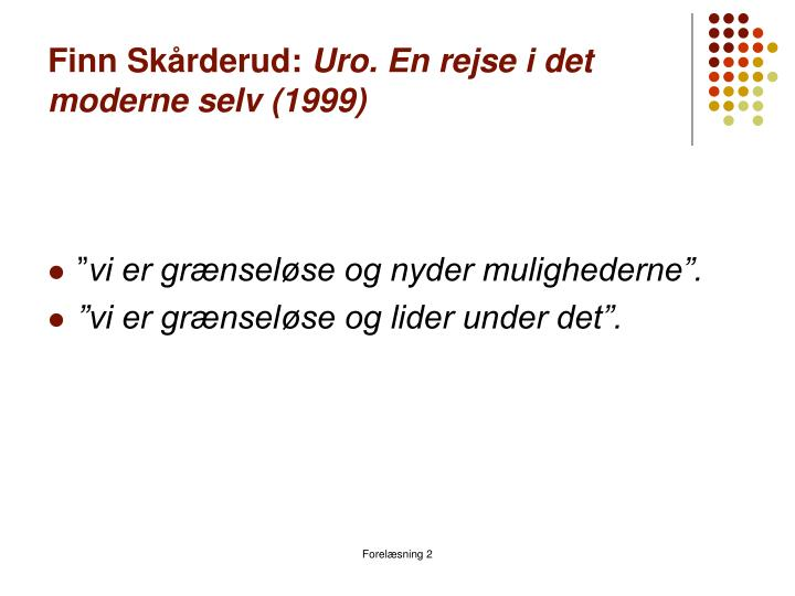 Finn Skårderud: