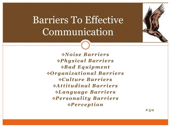 Barriers To Effective