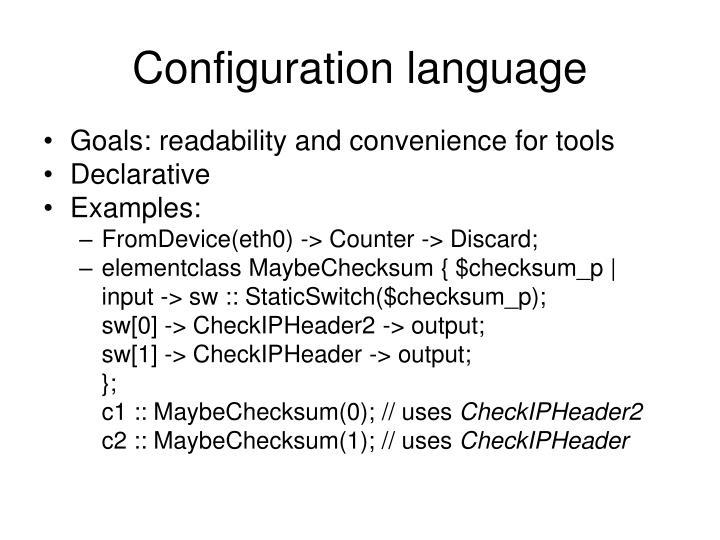 Configuration language