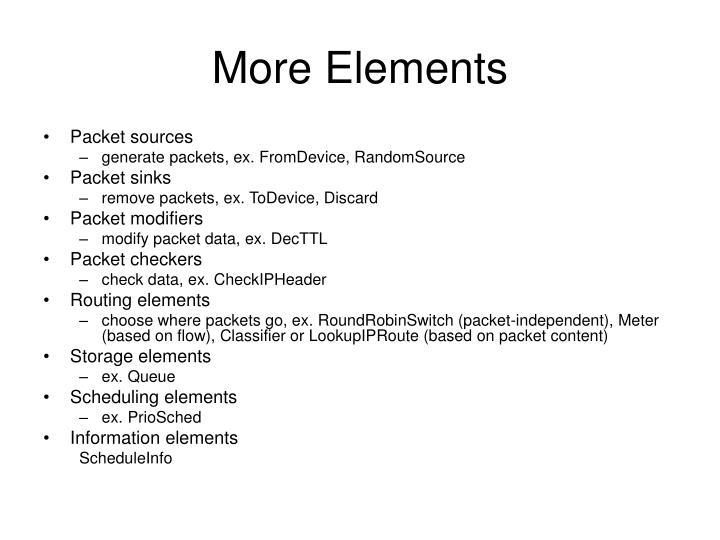 More Elements