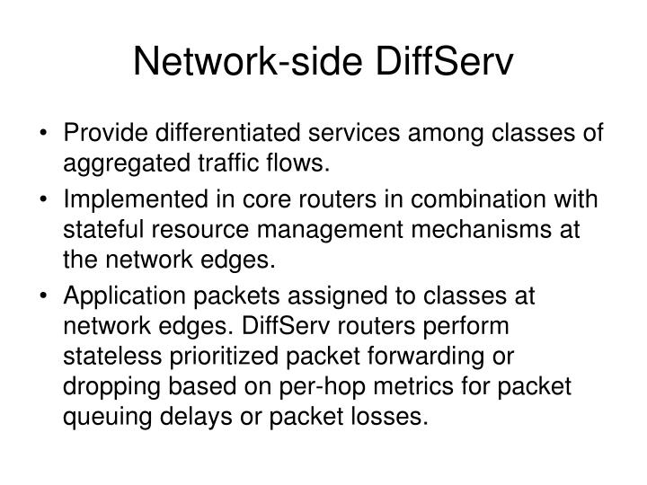 Network-side DiffServ