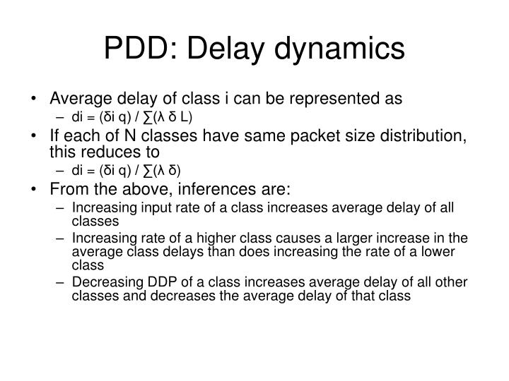 PDD: Delay dynamics