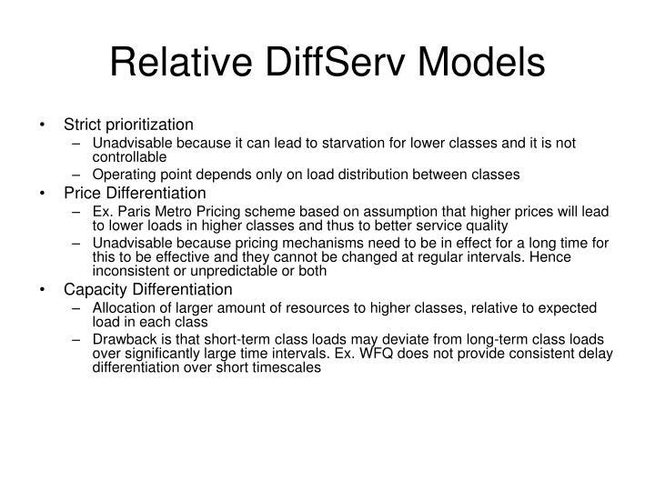Relative DiffServ Models