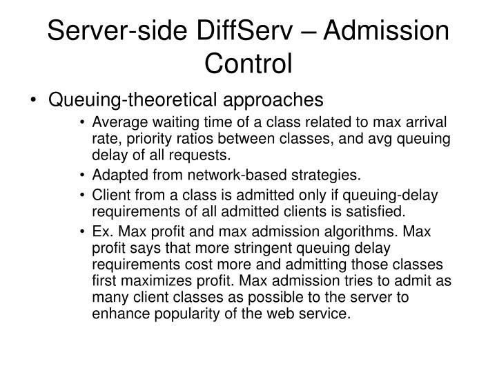 Server-side DiffServ – Admission Control
