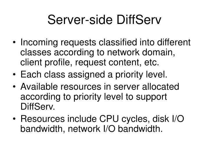 Server-side DiffServ