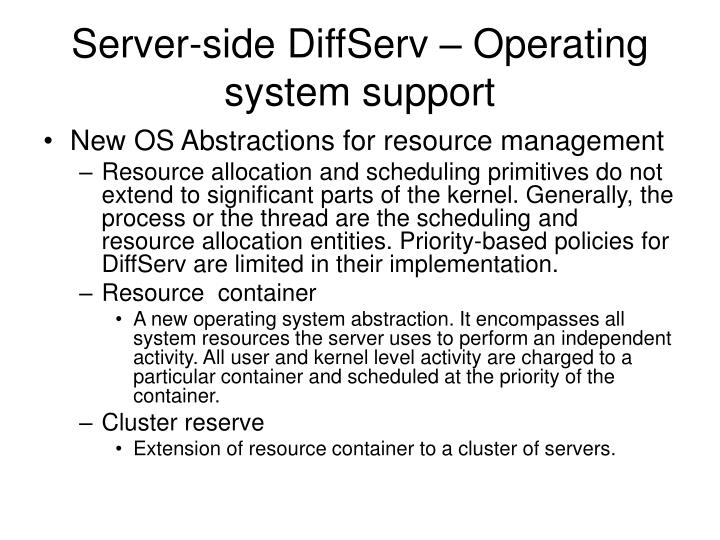 Server-side DiffServ – Operating system support