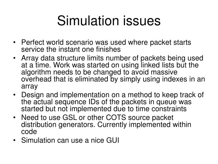 Simulation issues