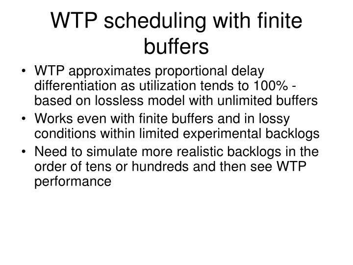 WTP scheduling with finite buffers