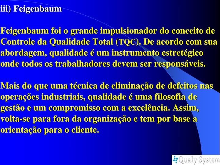 iii) Feigenbaum