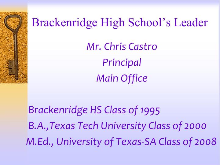 Brackenridge high school s leader