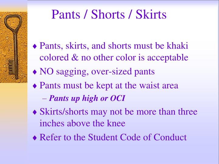 Pants / Shorts / Skirts
