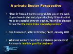 a private sector perspective1