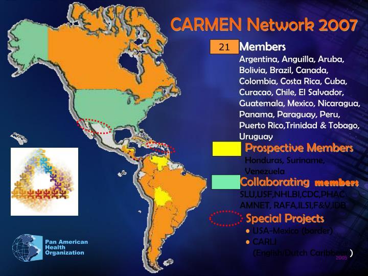 CARMEN Network 2007