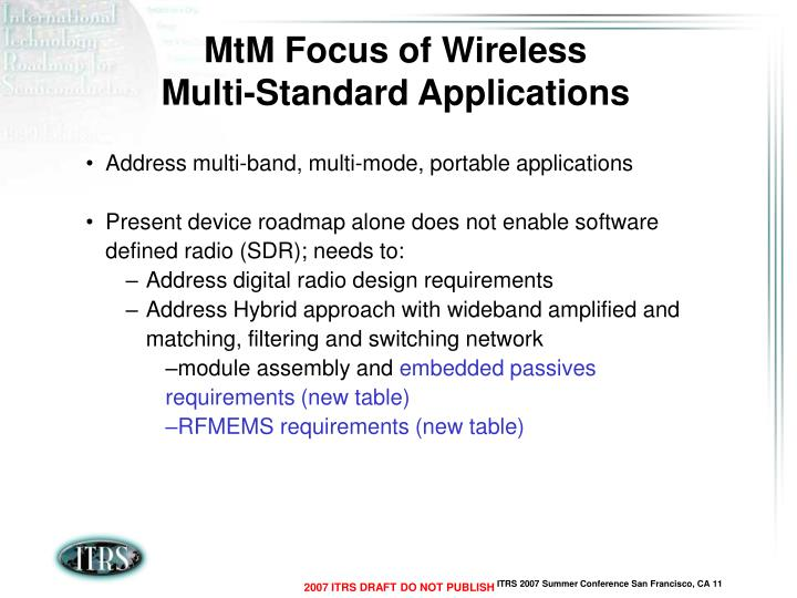 MtM Focus of Wireless