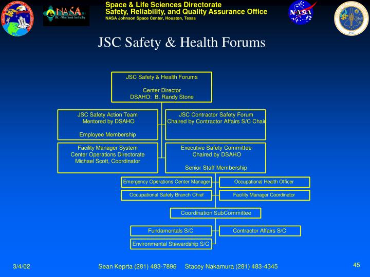 JSC Safety & Health Forums