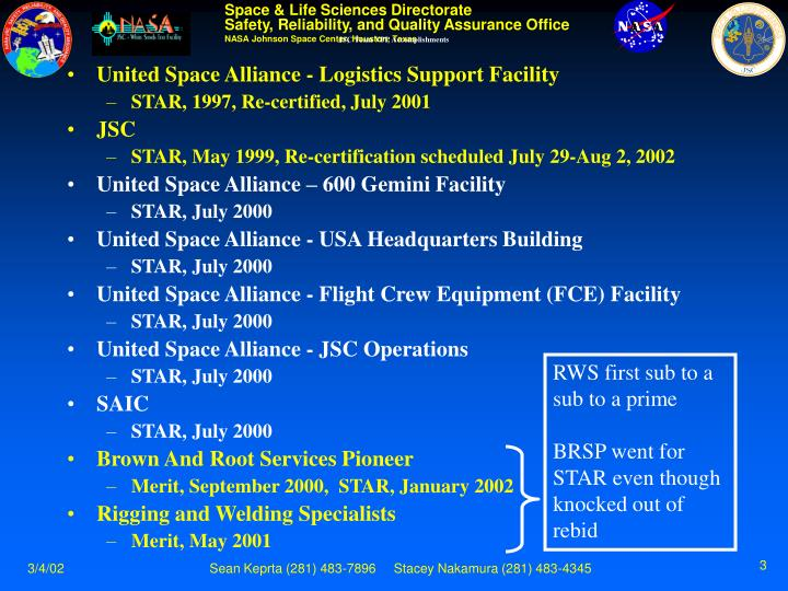 Jsc team vpp accomplishments