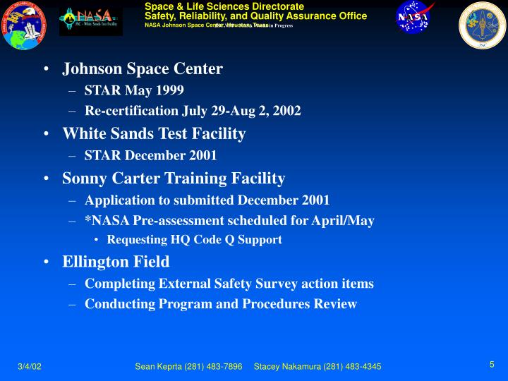 JSC VPP – NASA Works in Progress