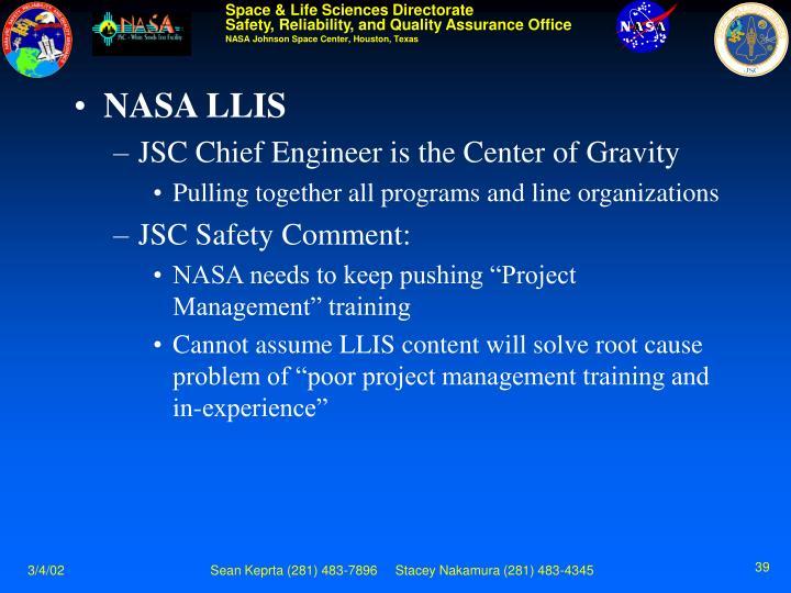 NASA LLIS