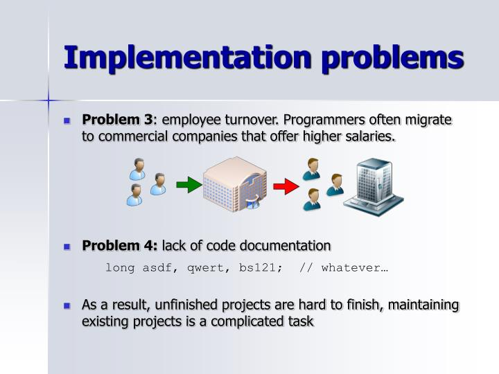Implementation problems