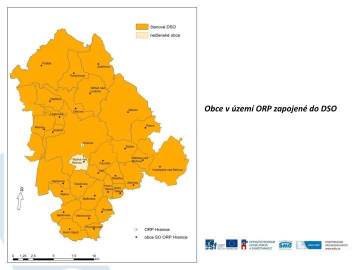 Obce vúzemí ORP zapojené do DSO