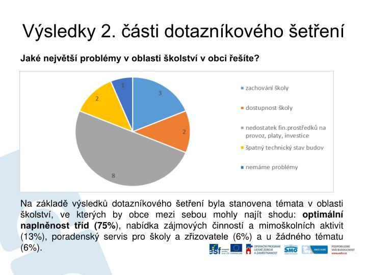 Výsledky 2. části dotazníkového šetření