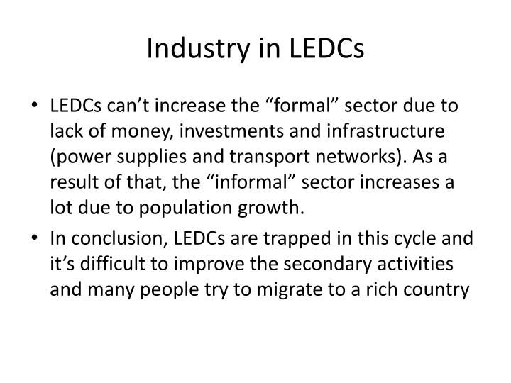Industry in LEDCs
