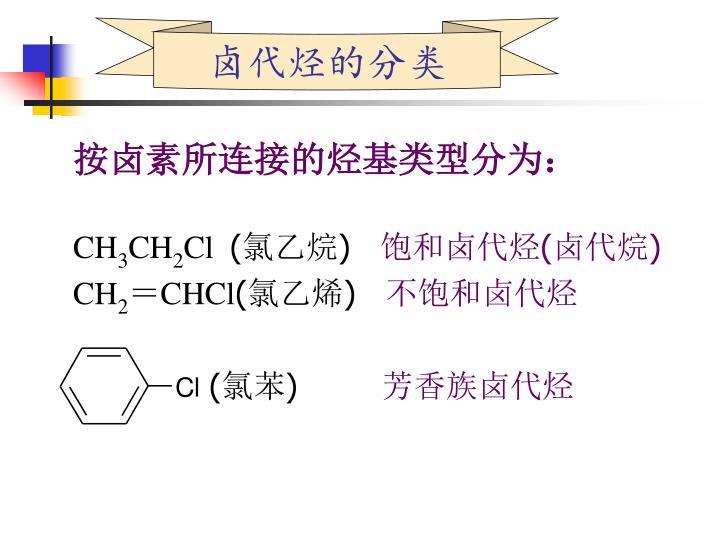 卤代烃的分类