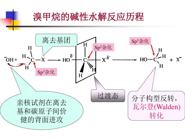 溴甲烷的碱性水解反应历程