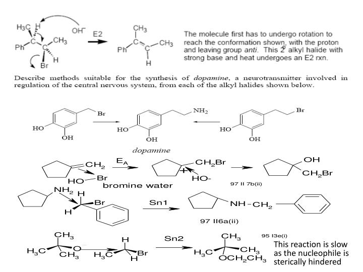 This reaction is slow as the nucleophile is sterically hindered