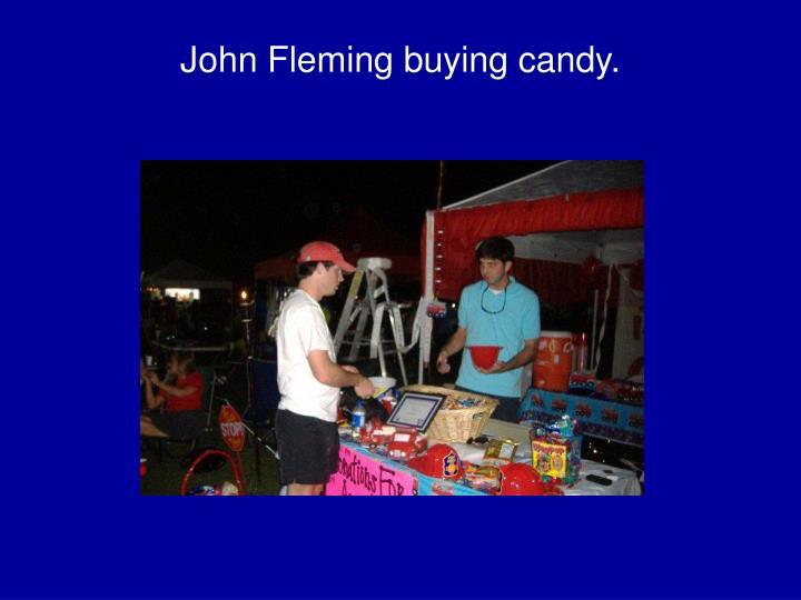 John Fleming buying candy.