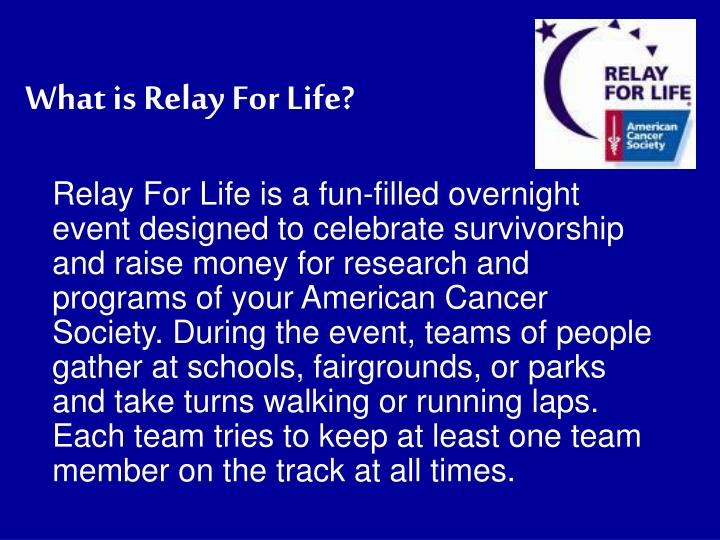 What is Relay For Life?