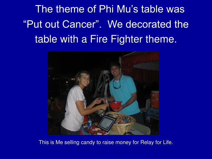 The theme of Phi Mu's table was